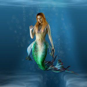 Une sirène dans l'océan