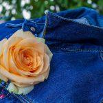 Veste en jean fantaisie